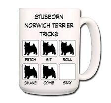 Norwich Terrier Stubborn Tricks Extra Large 15oz Coffee Mug