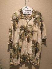 Tommy Bahama 100% Silk XXL Aloha Hawaiian Tropical Date Palm Camp Shirt