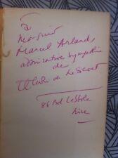 Henri Lescoet Signé autographe dédicace à Marcel Arland portrait Cocteau