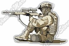 "Sniper Rifle US Army Soldier Military Gun Car Bumper Vinyl Sticker Decal 5""X4"""