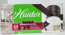 "HUNTER 44"" Low Profile Remote Control Ceiling Fan Minimus Matte Black 59453"