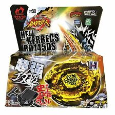 Hades Kerbecs / Hell Kerbecs Beyblade Top Metal Fusion Fight Masters + Launcher