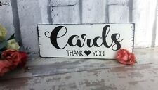 shabby vintage chic WEDDING CARDS sign table plaque thank you cards