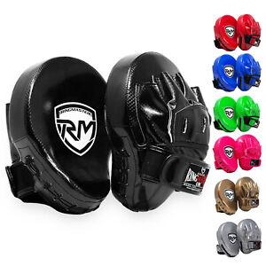 RingMaster Boxing Focus Pads Hook & Jab Training Punch Mitt Bag MMA Martial Arts