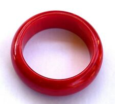 Vintage Red Marble look Bakelite Bangle 64.81gr Simichrome Tested +