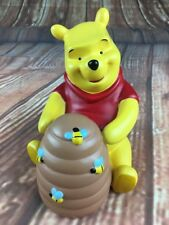RETRO DISNEY WINNIE THE POOH BEE HONEY MONEY POT PIGGY BANK MONEYBOX EXCELLENT
