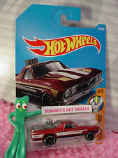 '68 EL CAMINO #216✰red/chrome✰MUSCLE MANIA✰2017 i Hot Wheels case K/L