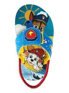 PAW Patrol LIGHT UP Toddler Boys Flip Flop Side Sandals Shoes Size 5-10 Girl NWT