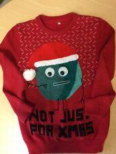 M&S Children's age 9-10 red pom-pom Christmas jumper