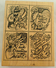 Psx K3141 2001 Be Yourself You Can Count On Me Hearts And Angels Rubber Stamp
