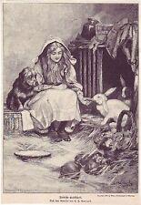 C.T, GARLAND - Neidische Gesellschaft - alter Druck - 1897 -  Holzschnitt -