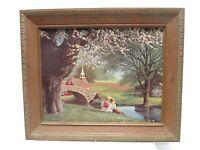 """Vintage Paul Detlefsen Print Spring Blossoms in 17.5"""" x 14.5"""" Lambert Frame"""