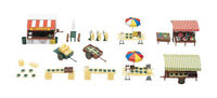 FALLER 180582 Market stands and carts 1:87 suberb detail
