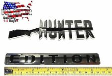HUNTER EDITION Emblem car Truck FERARRI BUGATTI Logo SUV boat SIGN Bumper Badge