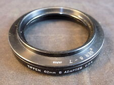 Tiffen Series 8 to 62mm Adapter Ring 52mm to 62mm Camera Step Up Ring