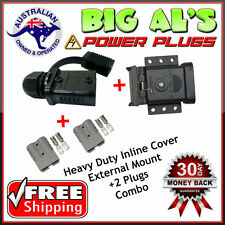 50AMP Anderson Cap Cover Connection External Mount Mounting COMBO +2 GREY PLUGS