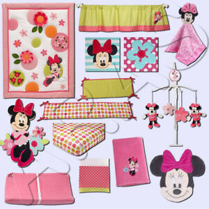 Minnie Mouse's Petal Perfect 13Pc Crib Bedding Set by Disney Baby *Discontinued*