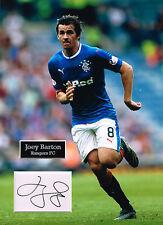 Joey BARTON SIGNED Autograph 16x12 Photo Mount AFTAL COA Glasgow Rangers