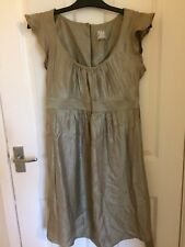 Topshop maternity Gold Dress  U.K. 10 Worn Once Party Occasion Christmas