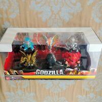 Godzilla Chibi Figure 6-Pack Godzilla Mechagodzilla Mothra King Ghidorah Diorama