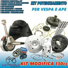 KIT MODIFICA CILINDRO 130 ALBERO MOTORE CAMPANA CUFFIA APE VESPA 50 PK XL