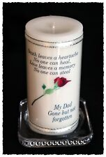 "Dad large personalised Memorial 6"" inch candle Father  #8"