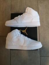 Nike Air Jordan 1 Mid Triple White GS (554725-130) NEU/New