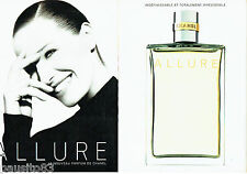 PUBLICITE ADVERTISING 016  1996  CHANEL  parfum femme ALLURE  (2p) 3