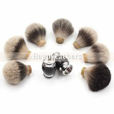 Men Badger Hair Knot Shaving Brush Tool Silvertip Pure Resin Black Metal Handle