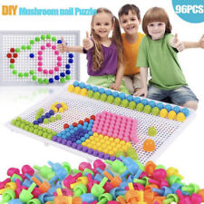 296pcs DIY Portable Mosaic Pins Creativity Set Kids Educational Learning Toy UK