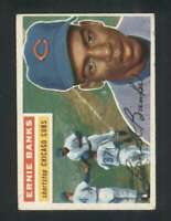 1956 Topps #15 Ernie Banks VG/VGEX Cubs Grey Backs 126120