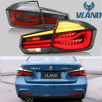 LED Tail Lights For BMW 3 Series F30 2013-2018 W/Sequential Indicator Rear Lamps