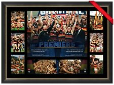 ADELAIDE 1997 AND 1998 AFL PREMIERS OFFICIAL PRINT FRAMED - ANDREW MCLEOD