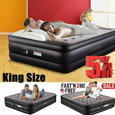 """Zoetime 84x76x20"""" Deluxe King Size Inflatable Air Mattress Bed + Built In Pump"""