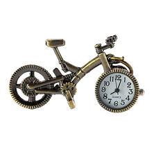 NOVELTY BRONZE QUARTZ BICYCLE POCKET WATCH (J484) Unique Collector Watch