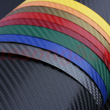 3D 4D 5D 6D Glossy Carbon Fiber Wrap Vinyl Decal Film Sticker Air Release New