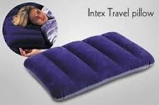 intex pillow air inflatable ,car back rest cushion, gym travel velvett top blue
