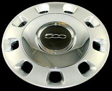FIAT 500 argento e cromo centro Genuine COPRICERCHIO singolo 1 x 50901871