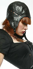 Lip Service Steam Machine Night Flight Steampunk Unisex Pilot Aviator Cap Hat M