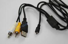 USB+AV CABLE For FUJIFILM X60,Z6,Z10,5D,7D,Z10fd,Z20fd