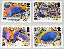 ASCENSION 2007 989-92 904-07 Naturschutz WWF Anglefish Fish Fische Fauna MNH
