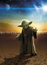 184x254cm Brown Wall mural wallpaper boys room decor Star Wars master Yoda decor