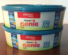 Lot Of 2 * Playtex Baby Diaper Genie Refills * Each Holds Up To 270 Diapers