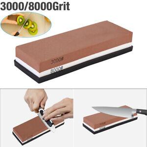 Knife Sharpening 3000/8000 Grit Stone Kitchen Whetstone Sharpener Wet Two Sided