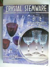 Crystal Stemware Glass Identification Collector's Book