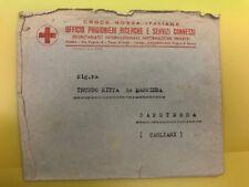 122B BUSTA CROCE ROSSA PRIGIONIERI DI GUERRA FRANCHIGIA X CAPOTERRA 1941