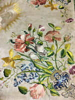 Exceptionnel Voile De Calice Fin XVII Début XVIII eme Fleur Soie Art Sacré