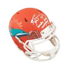 Ricky Williams Smoke Weed Everyday Autographed Dolphins AMP Mini Helmet BAS COA