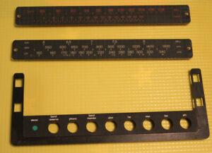 Braun Regie 520-Ersatzteil-Tastaturblende mit Senderskala für UKW und KW, MW, LW
