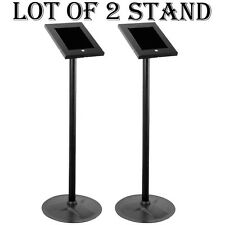 LOT OF 2 Pyle PSPADLK45 Universal Anti-Theft iPad 2/3/4 Kiosk Display Stand Case